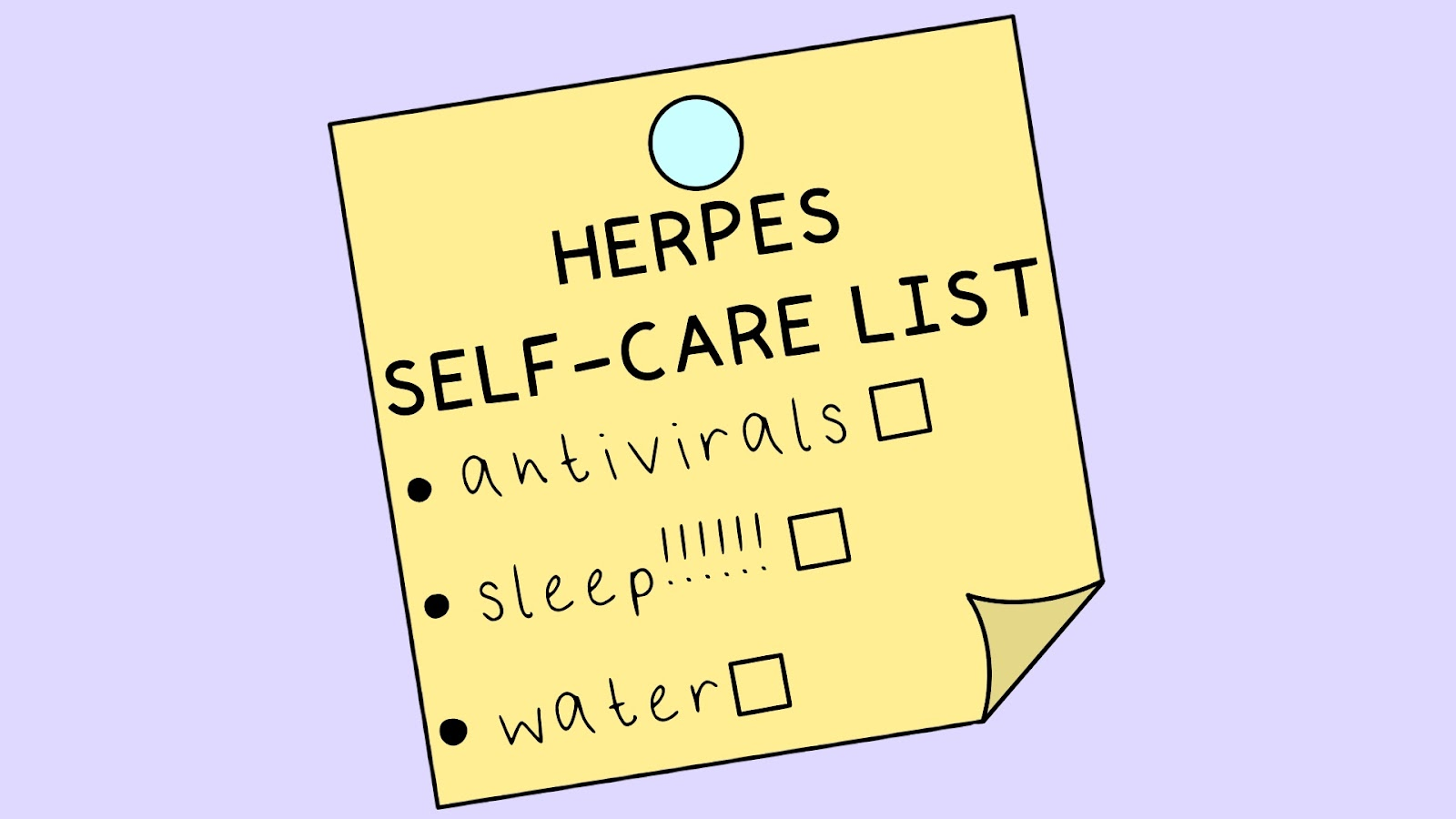 Illustration of a Herpes Outbreak Checklist