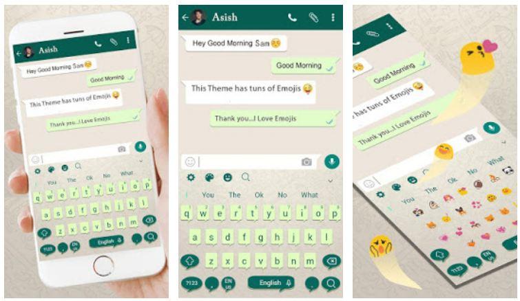 App tastiera a tema WhatsApp: colori e grafica uguali alla chat