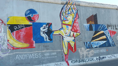 "Photo: East Side Gallery;  Andy Weiß ""Geist Reise"""