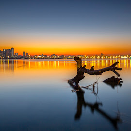 Pre Sunrise by Peter de Groot - Landscapes Sunsets & Sunrises ( orange, sunrise, ©pdgpix - peter de groot - unauthorised use prohibited, durban, water, sun )