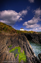 Photo: Blue On Green  Sometimes nature has a much better colour palette than I have so I leave her to it ;)  Stood on the cliffs in North Devon looking back on a house that I really want to live in. How wonderful would it be to live this close to the sea? To hear the waves all the time and to be able to simply wander into your garden for a view such as this, one day maybe.