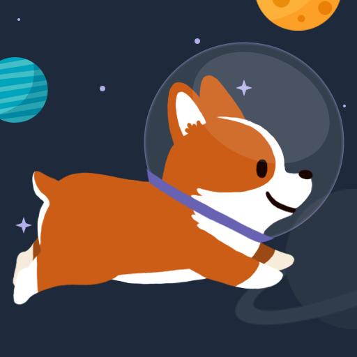 街機App|Space Corgi (宇宙旅行の子犬) LOGO-3C達人阿輝的APP