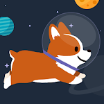 Space Corgi - Dog jumping space travel game icon