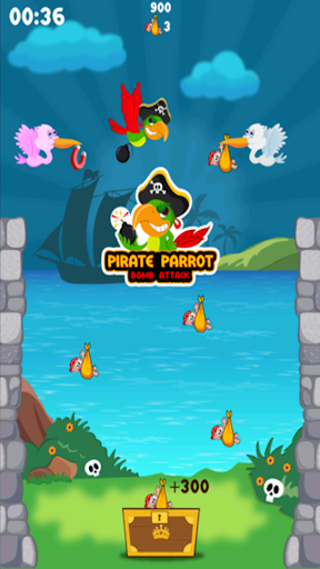 海賊オウムの爆弾攻撃