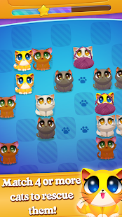 Cute Cats Match 4- screenshot thumbnail