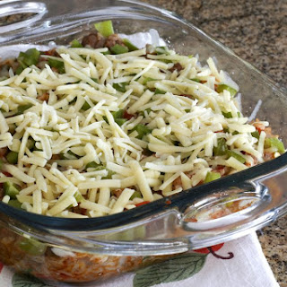 Texas-Style Ground Beef and Rice Casserole.