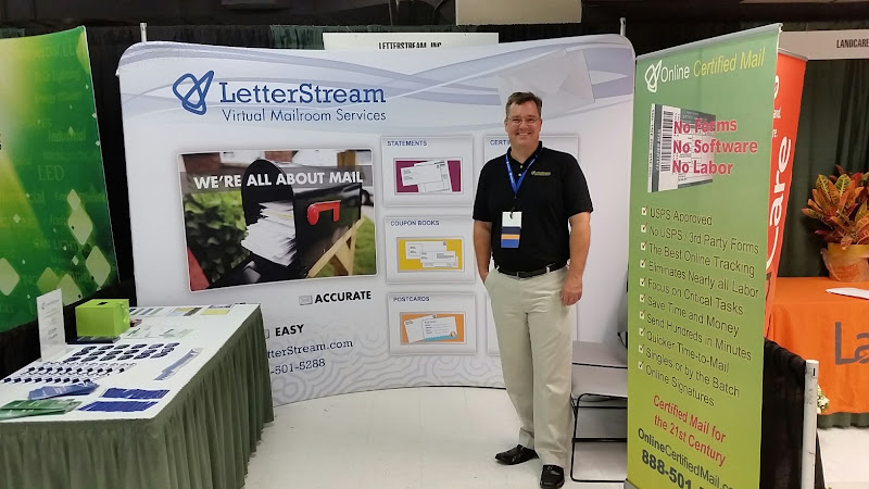 Photo: Visit us at booth 124 at the Houston CAI trade show today and enter for a chance to win a $100 Visa gift card.  *Winner will be announced here after the show.  Get free stuff and learn about how easy your mailings can be with LetterStream.com!