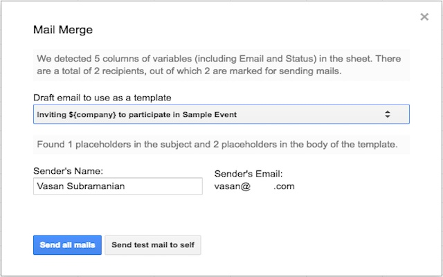 Simple Gmail Merge - Google Sheets add-on