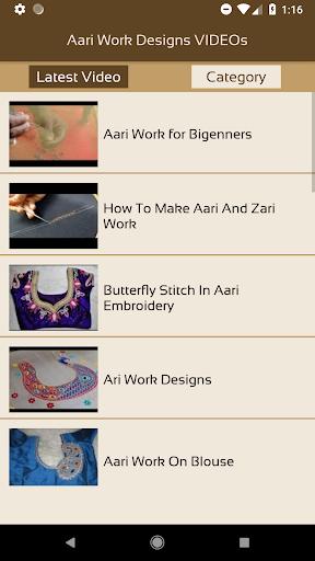 Aari Work Designs VIDEOs Apk Download 2