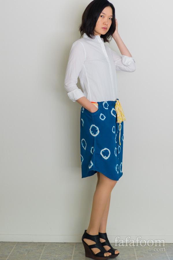 DIY Shibori Dyed Skirt - DIY Fashion Garment   fafafoom.com