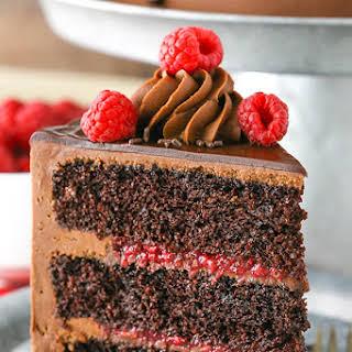Raspberry Chocolate Layer Cake.