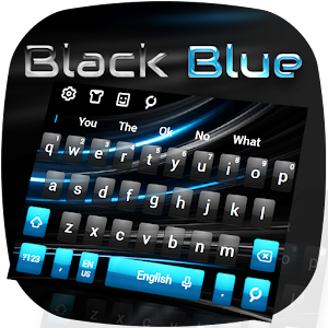 Black Blue Keyboard for PC