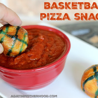 Basketball Pizza Snacks are a Slam Dunk