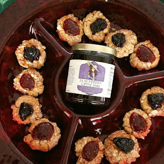 Thumbprint Cookies filled with Blackberry Jam