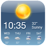 OS Style Daily live weather forecast Icon