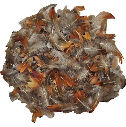 Kalkonfjädrar natur 10g