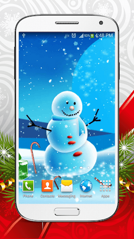 android Cute Snowman Live Wallpaper HD Screenshot 3