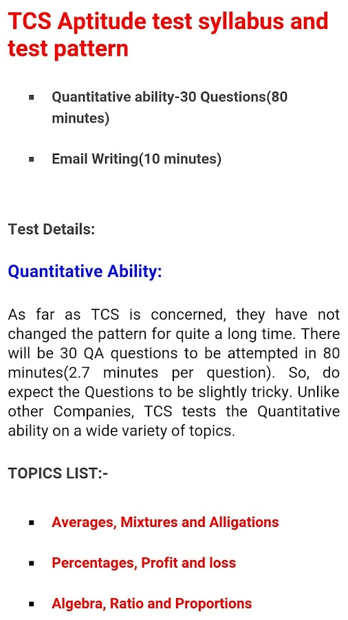 TCS Placement Process and Fully Solved Test Papers        Jobs in     TCS Placement Papers  screenshot