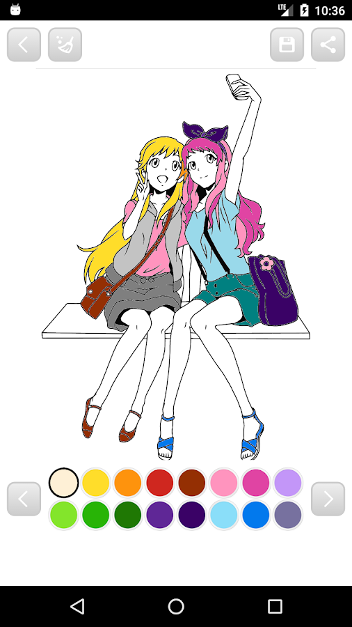 Anime Manga Coloring Book Screenshot