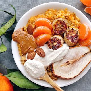 Pumpkin Porridge with Baobab Cashew Cream