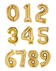 Folieballong siffra, guld