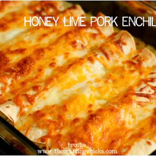 Honey Lime Pork Enchiladas