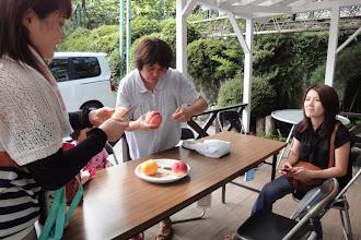 Photo: ぶどう、桃 両方食べれる しあわせ~~