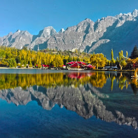Shangrila Lake by Riaz Paras - Landscapes Mountains & Hills ( water, mounyains, gilgit, beautifullake, riazparas, shangrila lake,  )