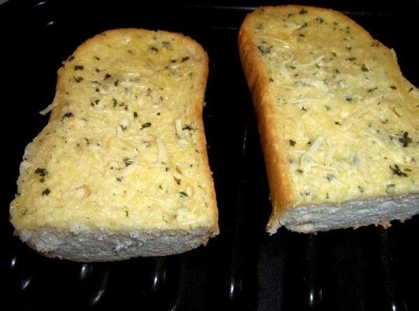 Turn on broiler or grill. Toast desired amount of garlic bread you will need,...