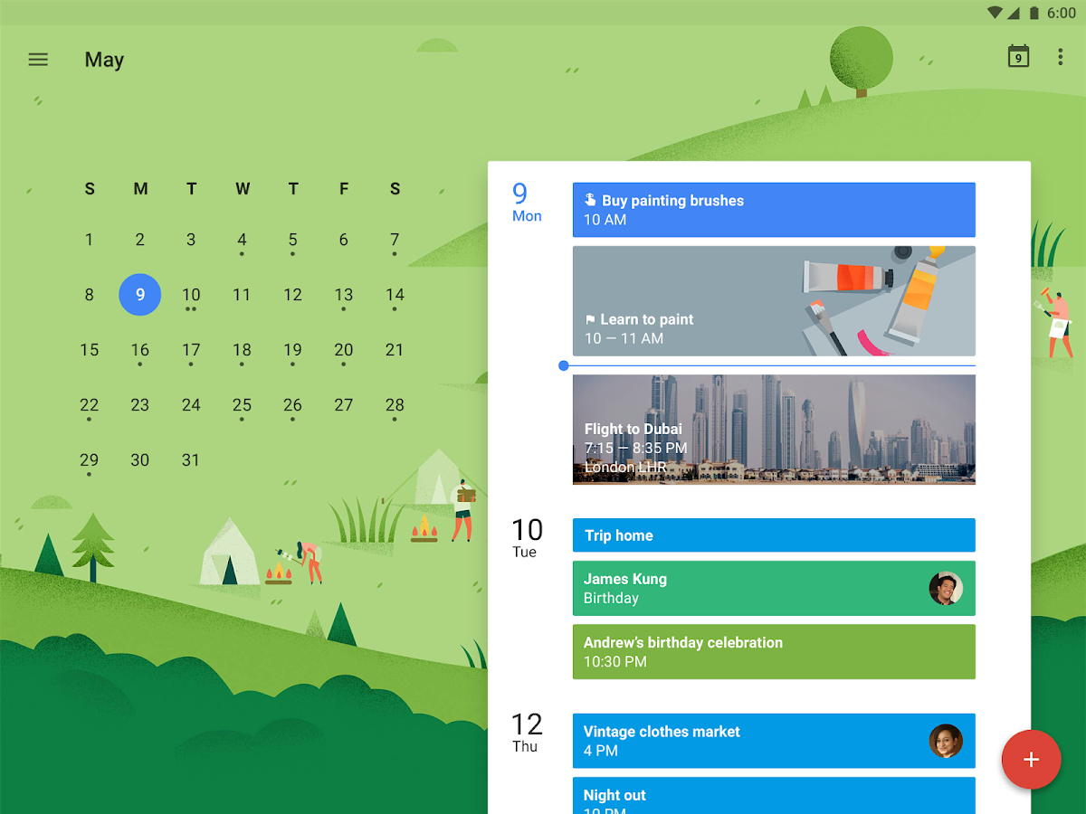 Calendario de Google: captura de pantalla