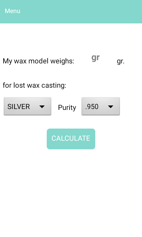 Jewelry Calculator- screenshot
