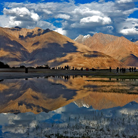 Nature's Mirror by Jasminder Oberoi - Landscapes Waterscapes