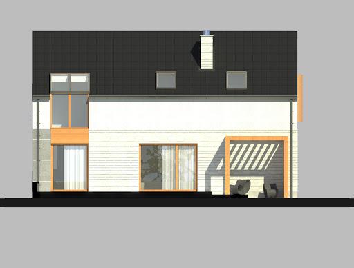 LIM House 01 - Elewacja tylna