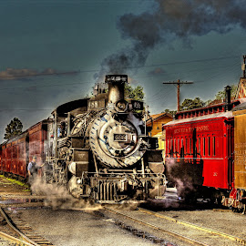 Colorado narrow gauge train by Ron Olivier - Digital Art Things ( steam engine, colorado narrow gauge train, train,  )