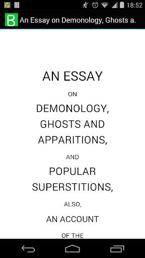 An Essay on Demonology