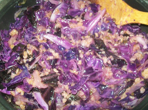 Then add the cabbage, salt and pepper to the onions, cover and continue to...