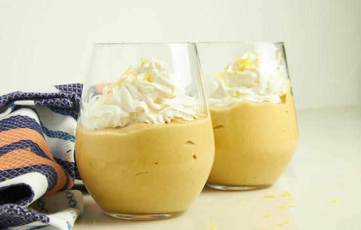 Persimmon Cashew Lemon Pudding Recipe