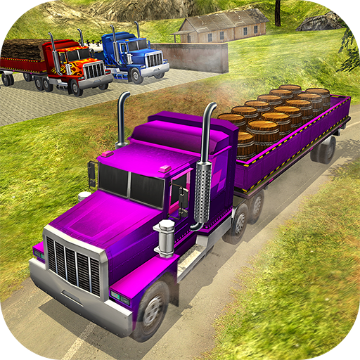 Off Road Cargo Trailer Truck Driver: Hill Driving