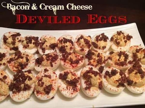 Bacon & Cream Cheese Deviled Eggs Recipe