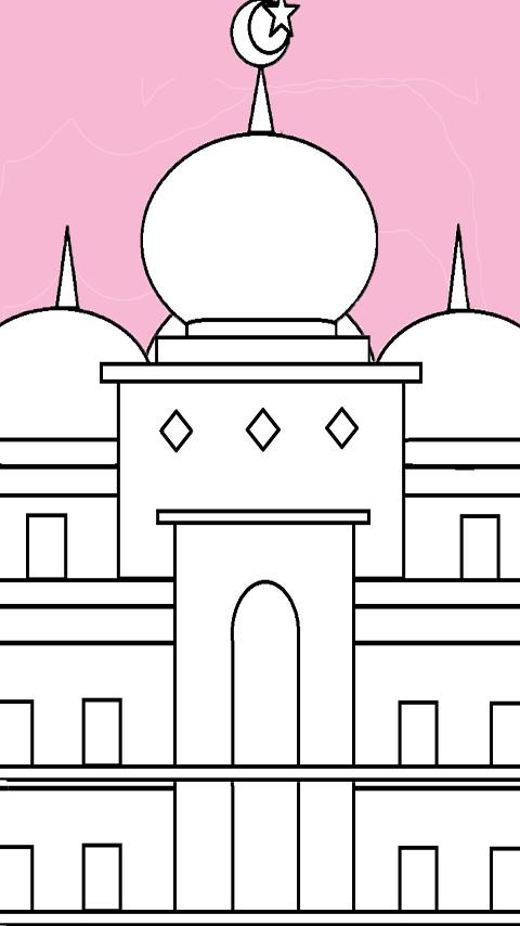 Mewarnai Rumah Ibadah : mewarnai, rumah, ibadah, Gambar, Mewarnai, Candi, Cangkuang