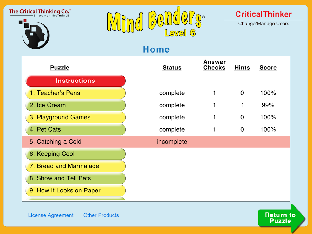 Mind Benders® Level 6- screenshot