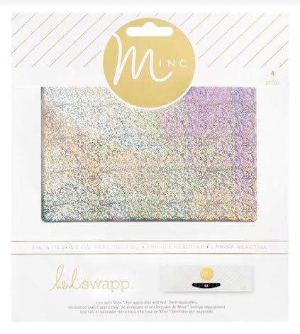 Heidi Swapp Minc Glitter Sheets 6X6 4/Pkg - Silver Glitter