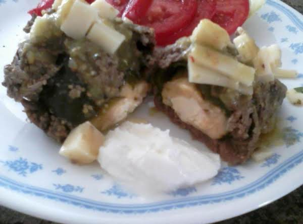 Poblano Stuffed Round Steak Recipe