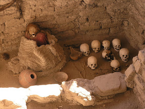 Photo: Another tomb with more mummies. The tombs had all been raided before the site became a park, so the mummies and artifacts may not actually have been in this tomb originally. Waking around the site there were humab bones, old cotton cloth, and pottery shards all over the place.