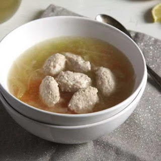 Fish Soup with Salmon Balls and Vegetables
