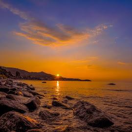 by Valentin Georgiev - Landscapes Sunsets & Sunrises ( sunrise, greece, color, beatiful, parade, sea )