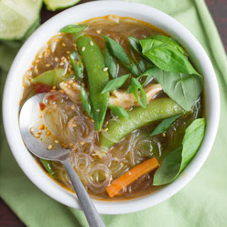 Hot & Sour Glass Noodle Soup.