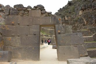 Photo: Different styles of constructions, but all looks like build during the same time, just different stone material. Ollantaytambo.