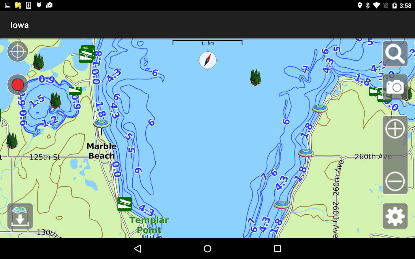 Aqua map iowa lakes gps android apps on google play for Best fishing apps for android