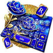 App Gold Blue Rose Crystal Keyboard Theme APK for Windows Phone